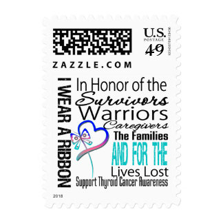 In Honor Collage Thyroid Cancer Postage