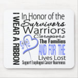 In Honor Collage Tribute Esophageal Cancer Mouse Pads
