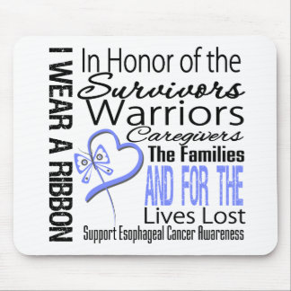 In Honor Collage Tribute Esophageal Cancer Mouse Pad