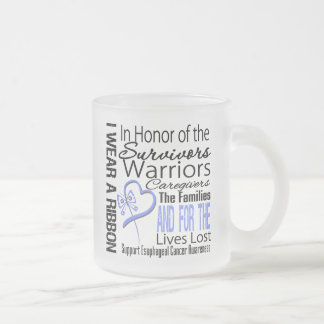 In Honor Collage Tribute Esophageal Cancer 10 Oz Frosted Glass Coffee Mug