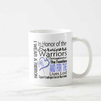 In Honor Collage Tribute Esophageal Cancer Classic White Coffee Mug