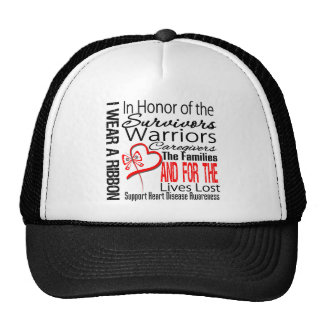 In Honor Collage Tribute Heart Disease Mesh Hat