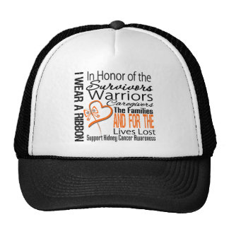In Honor Collage Tribute Kidney Cancer Trucker Hat