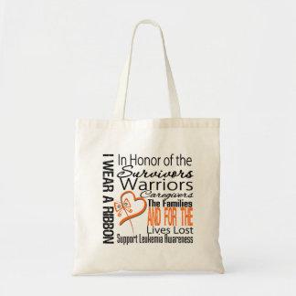 In Honor Collage Tribute Leukemia Tote Bag