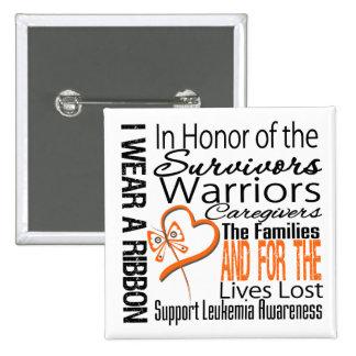 In Honor Collage Tribute Leukemia 2 Inch Square Button