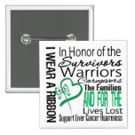 In Honor Collage Tribute Liver Cancer Pinback Buttons