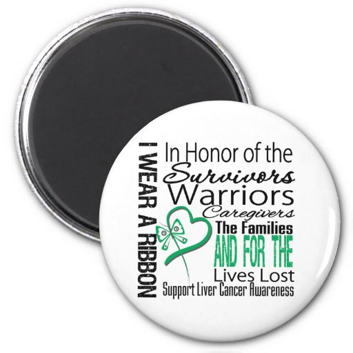 In Honor Collage Tribute Liver Cancer Refrigerator Magnet