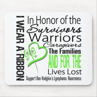 In Honor Collage Tribute Non-Hodgkin's Lymphoma Mouse Pad