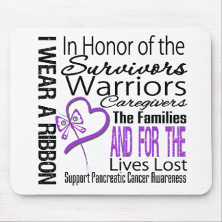 In Honor Collage Tribute Pancreatic Cancer Mousepad