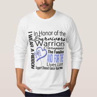 In Honor Collage Tribute Stomach Cancer Shirts