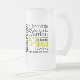 In Honor Collage Tribute Testicular Cancer Coffee Mugs