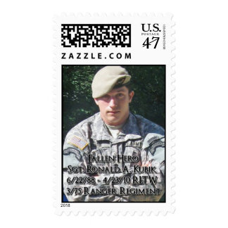 In Honor of Sgt. Ronald A. Kubik Postage