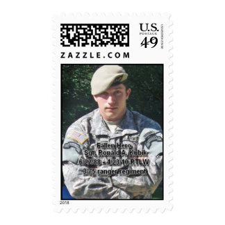 In Honor of Sgt. Ronald A. Kubik Stamp