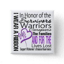 In Honor Tribute Collage Alzheimer's Disease Pinback Button