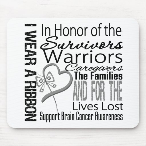 In Honor Tribute Collage Brain Cancer Mouse Pad