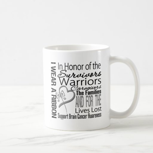 In Honor Tribute Collage Brain Cancer Coffee Mug