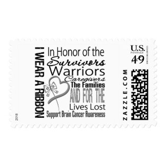 In Honor Tribute Collage Brain Cancer Postage Stamps