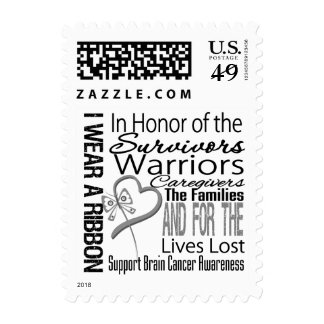 In Honor Tribute Collage Brain Cancer Stamps