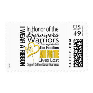 In Honor Tribute Collage Childhood Cancer Postage Stamps