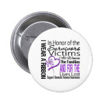 In Honor Tribute Collage Domestic Violence 2 Inch Round Button