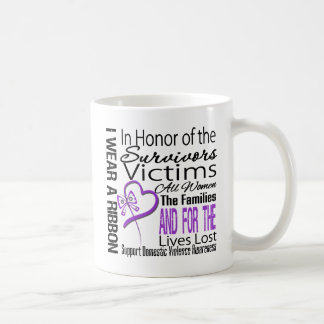 In Honor Tribute Collage Domestic Violence Classic White Coffee Mug