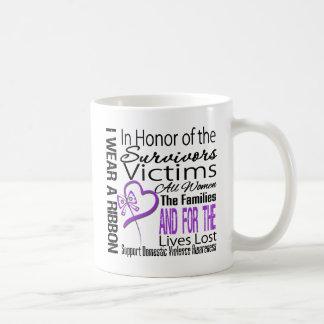 In Honor Tribute Collage Domestic Violence Coffee Mug