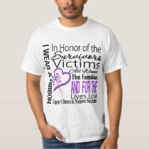 In Honor Tribute Collage Domestic Violence T Shirt