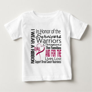 In Honor Tribute Collage Throat Cancer Baby T-Shirt