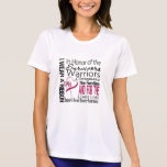 In Honor Tribute Collage Throat Cancer T-shirt