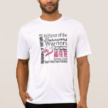 In Honor Tribute Collage Throat Cancer Tee Shirt