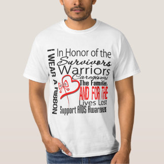In Honor Tribute Collage Tribute AIDS Shirt