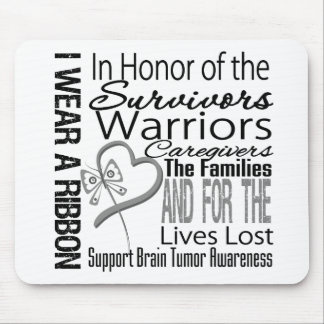 In Honor Tribute Collage Tribute Brain Tumor Mouse Pad