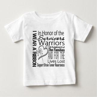 In Honor Tribute Collage Tribute Brain Tumor Tee Shirts