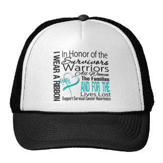 In Honor Tribute Collage Tribute Cervical Cancer Mesh Hats