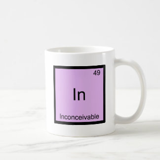 In - Inconceivable Funny Chemistry Element Symbol Classic White Coffee Mug