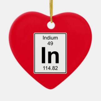 In - Indium Ceramic Ornament