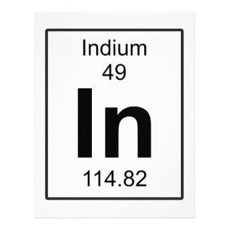 In - Indium Letterhead