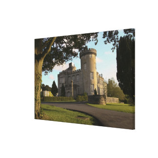 In Ireland, the Dromoland Castle side entrance Stretched Canvas Print