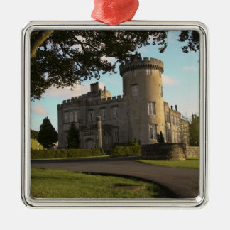 In Ireland, the Dromoland Castle side entrance Square Metal Christmas Ornament