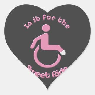 In it for the Sweet Ride Heart Sticker