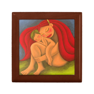 In its lap painting oil art. Mom, to mother Gift Box