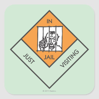 In Jail/ Just Visiting Square Sticker