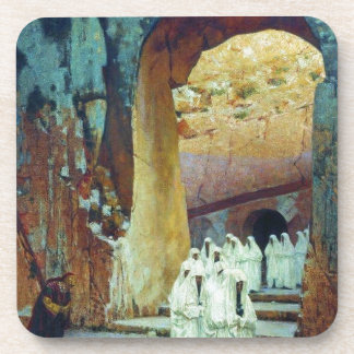 In Jerusalem. Royal tombs by Vasily Vereshchagin Beverage Coaster