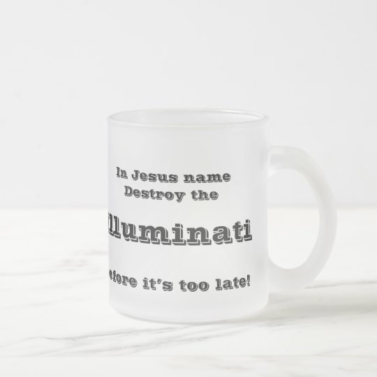 In Jesus name Frosted Glass Coffee Mug