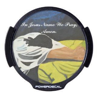 In Jesus Name We Pray, Amen LED Window Decal