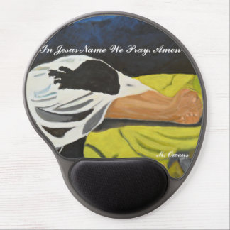 In Jesus Name We Pray Gel Mousepad
