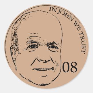 In John We Trust Round Sticker