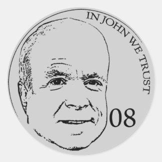 In John We Trust Sticker