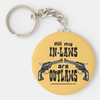 In-Laws & Outlaws Basic Round Button Keychain