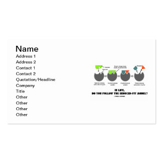 In Life Do You Follow The Induced-Fit Model? Business Card Templates